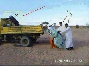 Araber schieben Auto
