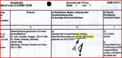 BRD-GmbH Datum