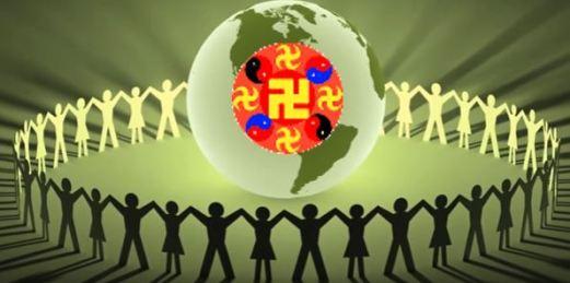 Erde Leute Swastika