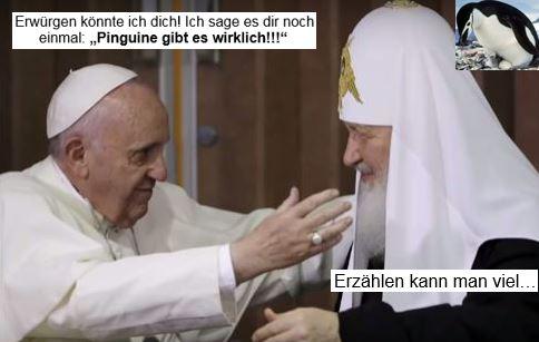 Papst und Kirill
