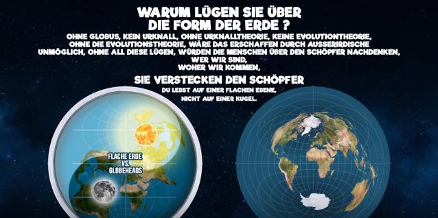 Flache Erde-Lüge